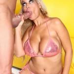 Blonde Slut Bridgette B Gets Cum on Her 34F Tits 04