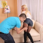 Blonde Babe Victoria White Sucks Dick and Gets Facial 05