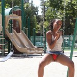 Cali Caramel Likes Licking Lolipops And Playing In The Park 02