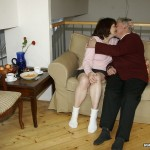 Busty Granny Ivana Spunked Right On Her Old Hairy Pussy 03