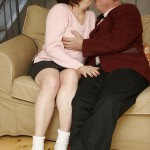 Busty Granny Ivana Spunked Right On Her Old Hairy Pussy 05