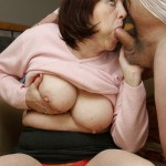 Busty Granny Ivana Spunked Right On Her Old Hairy Pussy 12