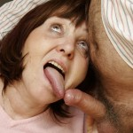 Busty Granny Ivana Spunked Right On Her Old Hairy Pussy 13