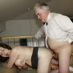 Busty Granny Ivana Spunked Right On Her Old Hairy Pussy 18