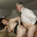 Busty Granny Ivana Spunked Right On Her Old Hairy Pussy 19