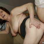 Busty Granny Ivana Spunked Right On Her Old Hairy Pussy 20