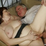 Busty Granny Ivana Spunked Right On Her Old Hairy Pussy 24