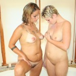 A Couple Of Blondes Get It On In The Tub 15