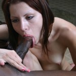 White Girl Capri Puts Her Tongue Piercing To Good Use on Black Cock 04