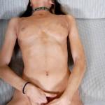 Skinny Skater Chick Tori Masturbates With Blue Dildo 14